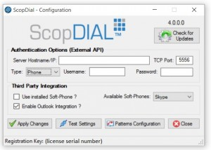scopdial configuration