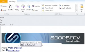 scopdial outlook integration